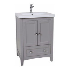 Elegant Gray Bathroom Vanity