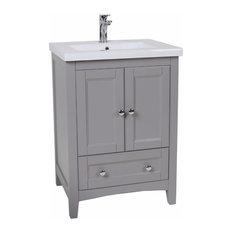 Elegant Gray Bathroom Vanity