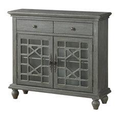 Two Drawer Two Door Cupboard, Texture Grey