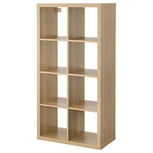 Display Shelving Unit, MDF With 6-Compartment, Simple Modern Design, Oak