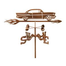1957 Chevy Car Weathervane With Garden Mount