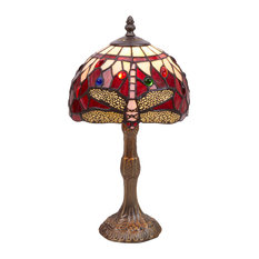Epoque Series Table Lamp, Red, Small