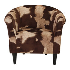 Naples Grande   Savannah Club Chair, Cowhide Brown   Armchairs And Accent  Chairs