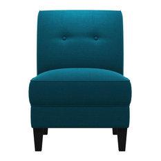 George Linen Chair, Peacock Blue