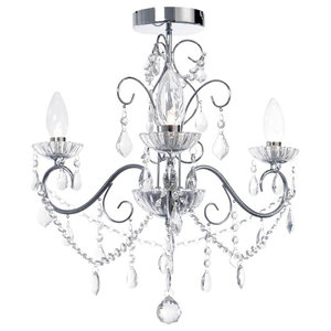 Vara 3 Light Bathroom Chandelier, Chrome