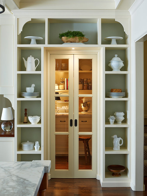 Great Kitchen Pantry   Traditional Dark Wood Floor Kitchen Pantry Idea In San  Francisco With Open Cabinets