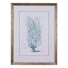 JOHN-RICHARD Painting Dyann Gunter's Blue Coral Gunter Aged Silver
