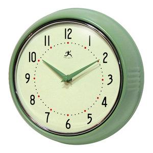 Infinity Instruments Retro Kitchen Vintage 50s Wall Clock, Green