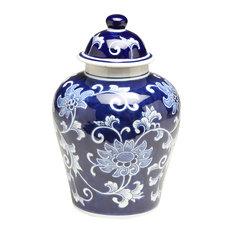 """10"""" Blue & White Ginger Jar"""