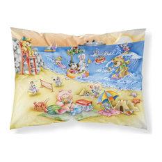 Animals Swimming at the Beach Standard Pillowcase
