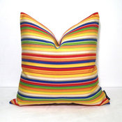 Red Green Blue Yellow Pillow by Mazizmuse