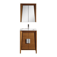 """Fine Fixtures Imperial II Collection Vanity With Cabinet, Wheat, 24"""""""