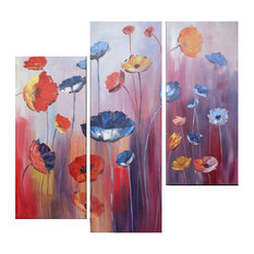 """Untamed Poppies, Wall Tapestry, 48""""x48"""""""