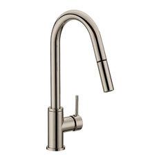 Design House 548552 Eastport 2.2 GPM Pull-Down Kitchen Faucet - Satin Nickel