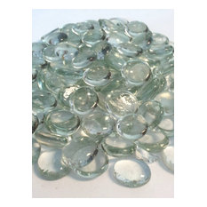 """8 Pound Container 3/4"""" Clear Glass Flat Beads"""