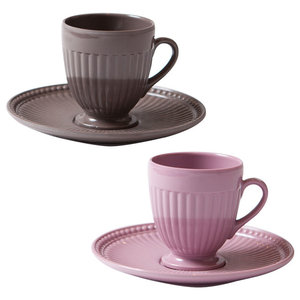 Indestructible Coffee Cups, Brown and Pink, Set of 6