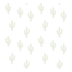 Wild West Cactus Wallpaper, Green