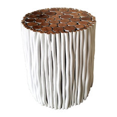 Briggen Stick Stool, White