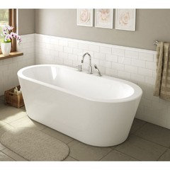 freestanding tub with deck mount faucet. depends on the tub and configuration. freestanding with deck mount faucet houzz