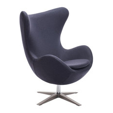 Zuo Modern Contemporary - Zuo Skien Modern Occasional Chair, Iron Gray - Armchairs and Accent Chairs