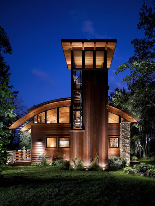 Lookout tower houzz for Lookout tower house plans