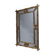 Fretwork Mirror, Antique Gold