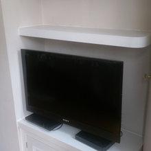 Alcove storage & TV