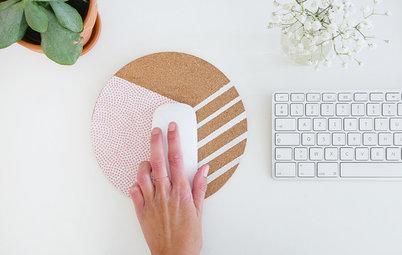 DIY : Fabriquer un joli tapis de souris en liège