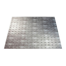 "24""x24"" Fasade Minidome Lay-in Ceiling Tile, Crosshatch Silver"