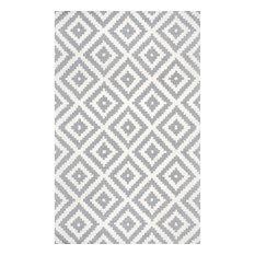 nuLOOM Hand-Tufted Geometric Tuscan Rug, Gray, 9'x12'