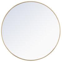 "Elegant Decor Eternity 42"" Round Contemporary Metal Frame Mirror in Brass"