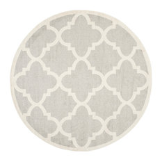 Safavieh   Safavieh Sveti Rug, Light Gray And Beige, 5u0027x5u0027 Round