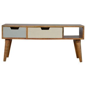 Oak, TV Cabinet, Blue,  90 cm