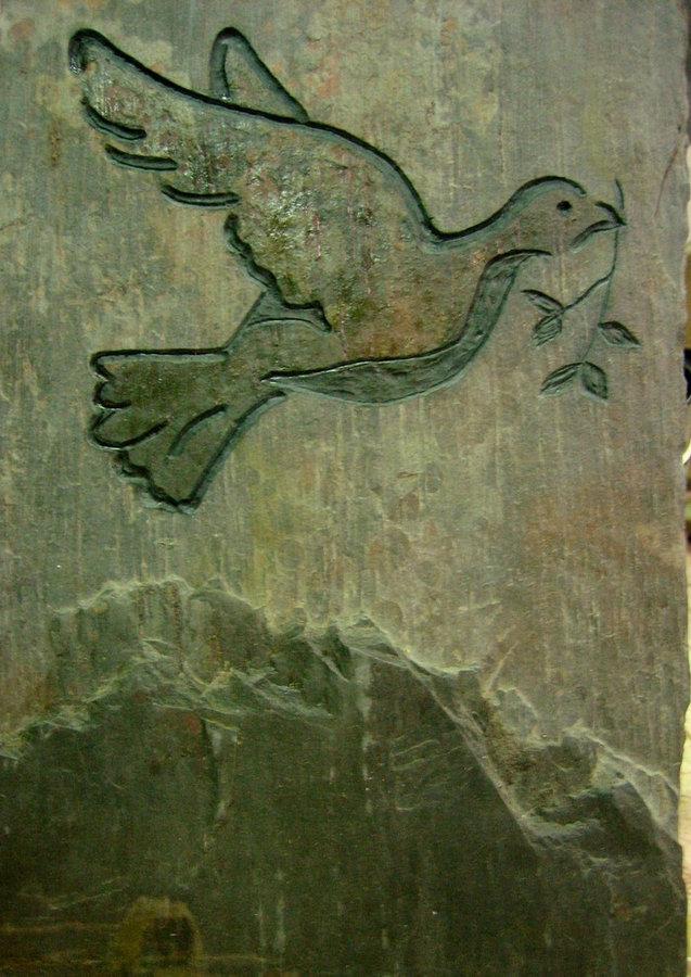 Stone Memorial & Commemorative stone- Dove of Peace 2