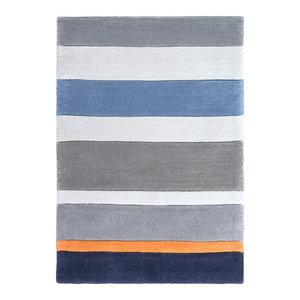 Surya Chic CHI1040 Blue/Orange Contemporary Area Rug, 8'x10'