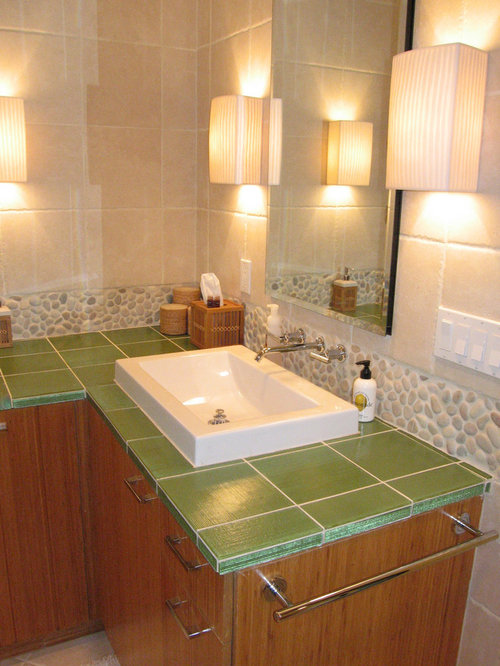 Bamboo bathroom design ideas remodels photos with glass for Bamboo bathroom design
