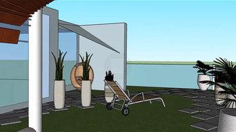 Proyecto jardín picina y chillout domicilio privado en Castelldefels