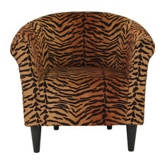 Naples Grande   Savannah Club Chair, Tiger Print   Armchairs And Accent  Chairs