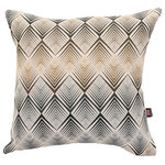 Yorkshire Fabric Shop - Diamond Chevron Scatter Cushion, Navy Blue, 55x55 cm - Smaller angled lines come together in a dazzling diamond pattern on the front of this 55-by-55-centimetre cushion. You can easily pair the unique geometry and soft feel of this cushion with a guest bed or living room sofa. From deep within the UK, the family-run Yorkshire Fabric Shop produces upholstery fabrics and a wide range of cushions for homes across the world.