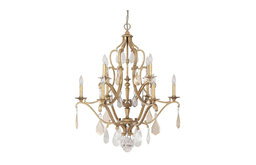 Capital Lighting Blakely Traditional Chandelier With Painted Crystal X-CP-GA0814