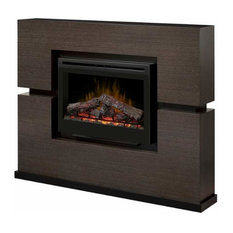 "Dimplex GDS33HL-1310 Linwood 65"" Wide 5,118 BTU Free Standing Electric Fireplace"