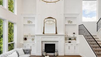 Living Room with Chandelier | Granada Remodel | Calabasas, CA