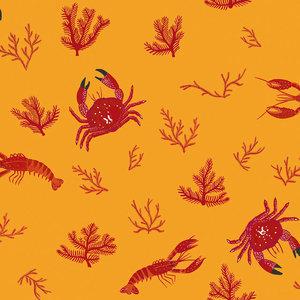 Crustaceans Wallpaper, Yellow Earth