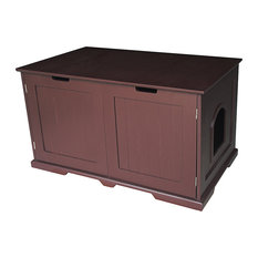 pet huphup kitty litter box and accent tablebench brown cat furniture cat furniture modern