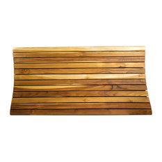"EcoDecors Teak  Shower Bath Floor Mat, 40""x20"""