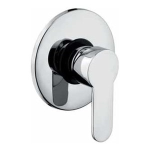 Logic Chrome Recessed Shower Mixer Tap, Without Diverter