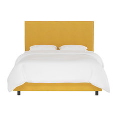 Foreman Full French Slipcover Bed, Linen French Yellow