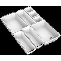 Lavish Home 8-Piece Plastic Stackable Modular Drawer Organizer