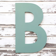 large wood letter wall sign by small town myrtle brown wall letters