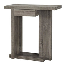 """32"""" Hall Console Accent Table, Dark Taupe"""
